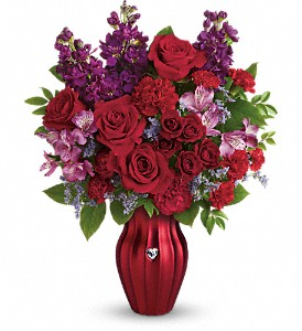 Teleflora's Shining Heart Bouquet in Reading PA, Heck Bros Florist