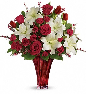 Love's Passion Bouquet by Teleflora in Rochester NY, Red Rose Florist & Gift Shop