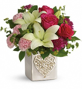 Teleflora's Love To Love You Bouquet in Milwaukee WI, Flowers by Jan