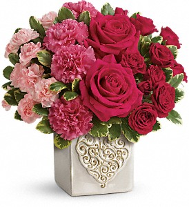 Teleflora's Swirling Heart Bouquet in Beaver PA, Snyder's Flowers