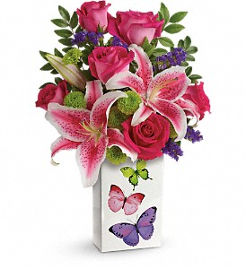 Teleflora's Brilliant Butterflies Bouquet in Worcester MA, Herbert Berg Florist, Inc.