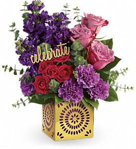 Teleflora's Thrilled For You Bouquet in Edmonton AB, Petals For Less Ltd.