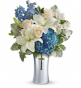 Teleflora's Skies Of Remembrance Bouquet in Fort Worth TX, TCU Florist