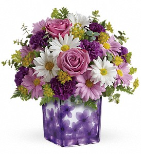 Teleflora's Dancing Violets Bouquet in Fort Mill SC, Jack's House of Flowers