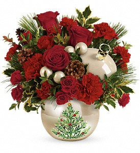 Teleflora's Classic Pearl Ornament Bouquet in Vancouver BC, Davie Flowers