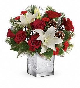 Teleflora's Frosted Forest Bouquet in White Stone VA, Country Cottage