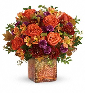 Teleflora's Golden Amber Bouquet in North Attleboro MA, Nolan's Flowers & Gifts