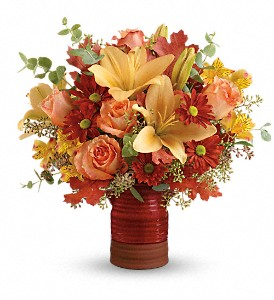 Teleflora's Harvest Crock Bouquet in Canton NY, White's Flowers
