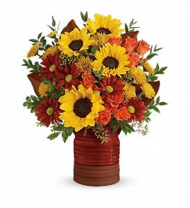 Teleflora's Sunshine Crock Bouquet in Hollywood FL, Al's Florist & Gifts
