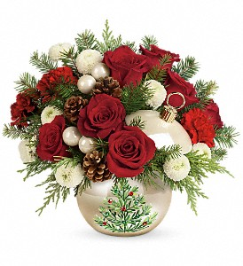 Teleflora's Twinkling Ornament Bouquet in Wytheville VA, Petals of Wytheville
