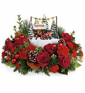 Thomas Kinkade's Festive Moments Bouquet in Amherst NY, The Trillium's Courtyard Florist