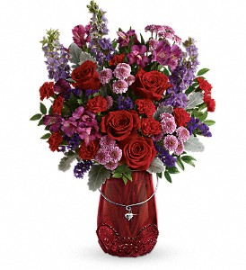 Teleflora's Delicate Heart Bouquet in Miami Beach FL, Abbott Florist