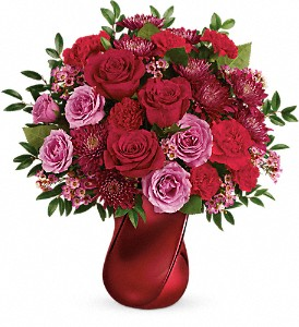 Teleflora's Mad Crush Bouquet in Royersford PA, Three Peas In A Pod Florist