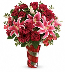 Teleflora's Swirling Desire Bouquet in Liverpool NY, Creative Florist