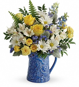 Teleflora's Bright Skies Bouquet in Christiansburg VA, Gates Flowers & Gifts