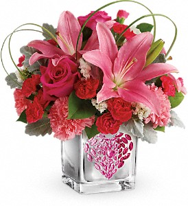 Teleflora's Jeweled Heart Bouquet in Fort Lauderdale FL, Brigitte's Flower Shop