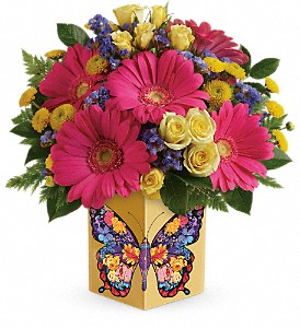 Teleflora's Wings Of Thanks Bouquet in Ormond Beach FL, Simply Roses