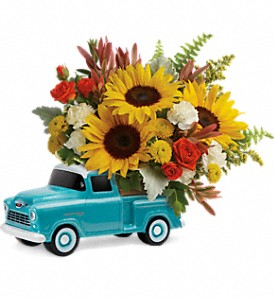 Teleflora's Chevy Pickup Bouquet in Orlando FL, Market Garden Floral Co