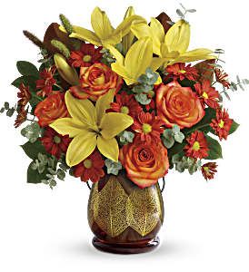 Teleflora's Citrus Harvest Bouquet in Bellevue WA, Lawrence The Florist