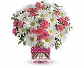Teleflora's Polka Dots and Posies in Chicago IL, Marcel Florist Inc.