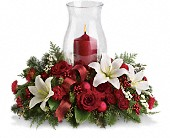 Holiday Glow Centerpiece in Baltimore MD, Lord Baltimore Florist