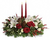 Christmas Wishes Centerpiece in Baltimore MD, Lord Baltimore Florist