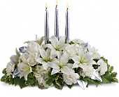 Silver Elegance Centerpiece in Norwalk CT, Richard's Flowers, Inc.