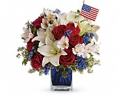America the Beautiful by Teleflora in Fort Worth TX, TCU Florist