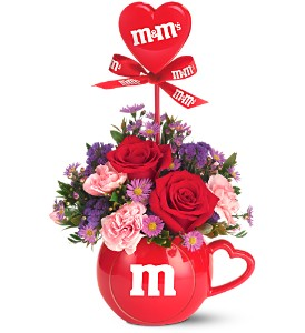 The Teleflora M&M's� Valentine Bouquet in Pensacola FL, R & S Crafts & Florist