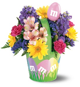 Teleflora's M&M� Easter Basket Bouquet in Crown Point IN, Debbie's Designs