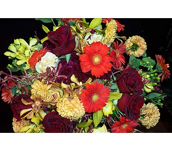Rich Rose Harvest in New York NY, Fellan Florists Floral Galleria