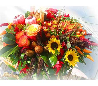 Autumn Centerpiece Deluxe in Lake Forest CA, Cheers Floral Creations