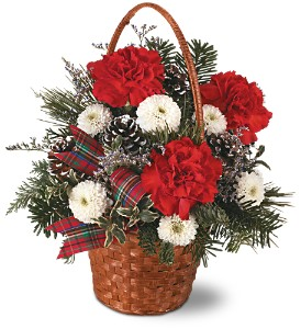 Teleflora's Very Merry Basket in Canton PA, Stulls Flowers