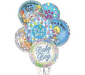 Stein Mylar Balloon Bouquet - Baby Boy in Burlington NJ, Stein Your Florist