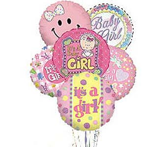 Stein Mylar Balloon Bouquet - Baby Girl in Burlington NJ, Stein Your Florist
