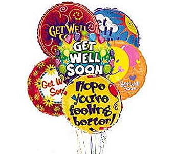 Stein Mylar Balloon Bouquet - Get Well in Burlington NJ, Stein Your Florist