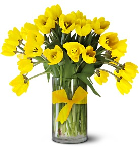 Teleflora's Sunny Yellow Tulips - Premium in Clearwater FL, Flower Market