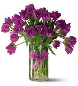 Teleflora's Passionate Purple Tulips - Premium in Indianapolis IN, Gillespie Florists