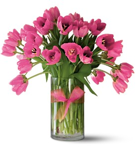 Teleflora's Precious Hot Pink Tulips - Premium in Kingston ON, In Bloom