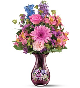 Teleflora's Fenton Art Glass Bouquet in Festus MO, Judy's Flower Basket