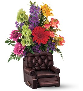 Teleflora's Barcalounger Bouquet in Bedford IN, Bailey's Flowers & Gifts
