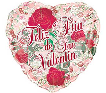 BB308 ''36inch Spanish Valentine Balloon'' in Oklahoma City OK, Array of Flowers & Gifts