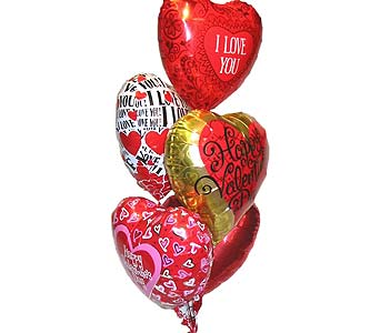 6 Assorted Mylar Balloons in Oklahoma City OK, Array of Flowers & Gifts