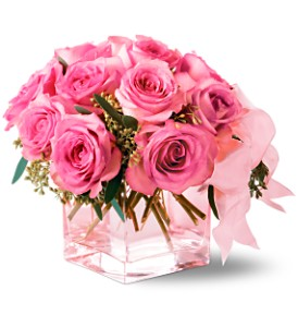 Teleflora's Pink on Pink Bouquet in Victoria BC, Thrifty Foods Flowers & More
