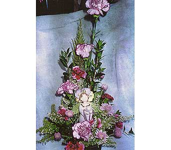 arrangement w/ angel bell in Sioux Falls SD, Country Garden Flower-N-Gift