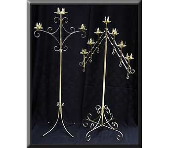 Brass Unity Candelabra & 7 Branch Candelabra in Grand Island NE, Roses For You!