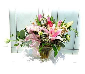 Tulip & Lilies Bouquet in Lake Forest CA, Cheers Floral Creations