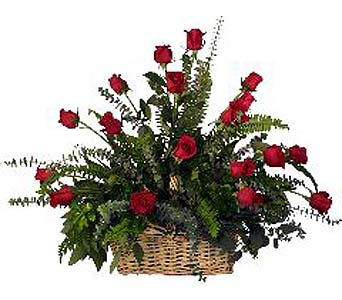 FF10 ''Rose Garden Basket'' in Oklahoma City OK, Array of Flowers & Gifts