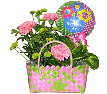 MDGP17 ''Mama's Floral'' Handbag Planter in Oklahoma City OK, Array of Flowers & Gifts
