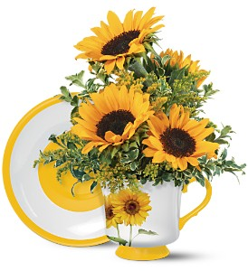 Teleflora's Sunny Sunflower Bouquet in Orlando FL, University Floral & Gift Shoppe